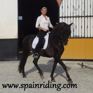 Horseback riding in Spain