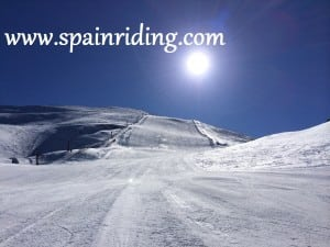 horsebackriding skiing