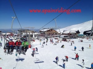 skiing and riding in spain
